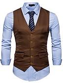 cheap Dress Watches-Men's Cotton Vest - Color Block