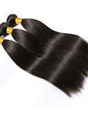 olcso Ruhák-3 csomag Brazil haj Egyenes 10A Szűz haj Az emberi haj sző Fekete Emberi haj sző Human Hair Extensions Női