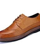 זול טישרטים לגופיות לגברים-נעליים גומי אביב סתיו נוחות נעלי אוקספורד ל בָּחוּץ שחור צהוב חום