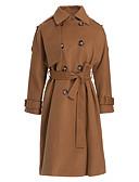ieftine Paltoane Trench Femei-Pentru femei Guler Cămașă Palton Șic Stradă - Mată