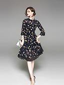 זול שמלות נשים-עומד דפוס שמלה נדן בגדי ריקוד נשים
