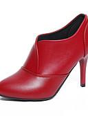 זול בגדי ים לגברים-בגדי ריקוד נשים נעליים PU אביב / סתיו נוחות עקבים עקב סטילטו שחור / אדום
