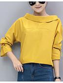 preiswerte Hemd-Damen Solide Hemd Lose Moderner Stil Baumwolle
