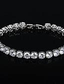 ieftine Quartz-Pentru femei Diamant sintetic Brățară - Argilă Brățări Auriu / Argintiu Pentru Nuntă Petrecere