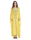 tanie Sukienki-Arabian Dress / Abaya Damskie Festiwal/Święto Kostiumy na Halloween Yellow Jendolity kolor Modny / Szyfon