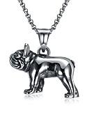 رخيصةأون ربطات العنق للرجال-للرجال قلائد الحلي - الفولاذ المقاوم للصدأ كلاب أوروبي, قوطي فضي قلادة مجوهرات 1 من أجل مراسم, شريط