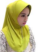זול שמלות נשים-כיסוי ראש / Abaya / חיג'אב אופנתי צהוב / ירוק / ורוד משי אביזרי קוספליי