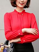 זול שמלות נשים-אחיד כותנה, חולצה - בגדי ריקוד נשים / סתיו