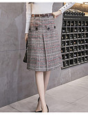 cheap Women's Skirts-Women's Going out A Line Skirts - Houndstooth
