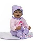 זול סוודרים וקרדיגנים לגברים-NPKCOLLECTION בובה מחדש תינוק 22 אִינְטשׁ ויניל - כְּמוֹ בַּחַיִים, ריסים ידניים, ציפורניים אטומות וחותמות הילד של יוניסקס מתנות / CE / עור טבעי / ראש דיסקט