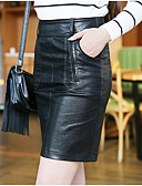 cheap Women's Skirts-Women's Going out Street chic A Line Skirts - Solid Colored / Fall / Mini
