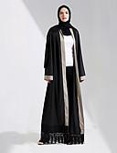 זול צעיפים אופנתיים-אופנה שמלת הקפטן Abaya השמלה הערבי בגדי ריקוד נשים פסטיבל / חג תחפושות ליל כל הקדושים שחור אחיד