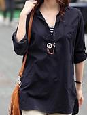 levne Košile-Dámské - Jednobarevné Košile Bavlna Košilový límec