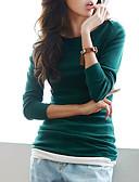 levne Tričko-Dámské - Jednobarevné Tričko Bavlna