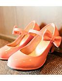 preiswerte Kleider für die Hochzeitsfeier-Mädchen Schuhe PU Frühling / Herbst Komfort / Schuhe für das Blumenmädchen High Heels für Schwarz / Rot / Rosa