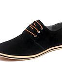 זול חולצות לגברים-בגדי ריקוד גברים נעלי נהיגה עור אביב / קיץ יום יומי / נוחות נעלי אוקספורד קולור בלוק אפור / אדום / חאקי