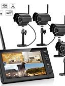זול שמלות נשף-7 אינץ 'tft דיגיטלי 2.4g מצלמות אלחוטיות אודיו וידאו מפקחת 4ch מרובע dvr מערכת הביטחון עם אור לילה IR ארבע מצלמות