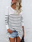 cheap Leggings-Women's Basic Cotton Loose T-shirt - Striped