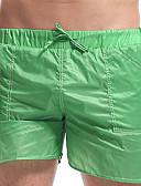 رخيصةأون كيلوتات-M L XL لون الصلبة, ملابس السباحة قعطة واحدة أخضر أصفر أساسي رجالي
