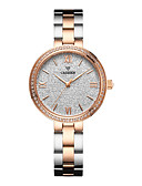 cheap Quartz Watches-CADISEN Women's Wrist Watch Pave Watch Japanese Quartz 30 m Water Resistant / Water Proof Casual Watch Stainless Steel Band Analog Casual Fashion Elegant White / Rose Gold - White Black / White Rose
