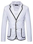 זול טישרטים לגופיות לגברים-בגדי ריקוד גברים לבן שחור כחול נייבי L XL XXL בלייזר רגיל אחיד / שרוול ארוך / אביב / סתיו