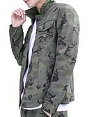 זול טרנינגים וקפוצ'ונים לגברים-קולור בלוק להסוות צווארון חולצה סגנון רחוב ג'קט - בגדי ריקוד גברים