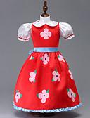 זול בלייזרים וחליפות לגברים-שמלה כותנה קיץ שרוול קצר Party ליציאה פרחוני טלאים הילדה של חמוד יום יומי אודם