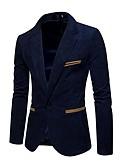 זול טישרטים לגופיות לגברים-בגדי ריקוד גברים כחול נייבי יין חאקי XL XXL XXXL בלייזר מידות גדולות אחיד Party / שרוול ארוך / אביב / סתיו