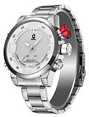 baratos Cintos de Moda-Relógios Alarme / Relógio Multifunções JEISO-1704 para Outro Multi funções / Visão Nocturna LED Relogio Despertador / Calendário