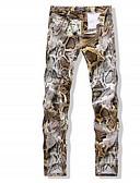 זול מכנסיים ושורטים לגברים-בגדי ריקוד גברים סגנון רחוב סקיני מכנסיים פרחוני