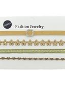 preiswerte Damen Jeansjacken-Damen Halsketten - Leder Blume Grundlegend, Modisch Braun Modische Halsketten 4 Für Alltag, Neujahr
