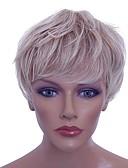 billige Eksotisk herreundertøy-Syntetiske parykker Krøllet Blond Lagvis frisyre Syntetisk hår Naturlig hårlinje Blond Parykk Lokkløs Bleik Blond