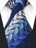 זול עניבות ועניבות פרפר לגברים-הגברים של המפלגה עבודה עניבת. - פסים גיאומטרי מפוספס