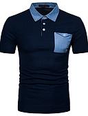 זול טישרטים לגופיות לגברים-צווארון חולצה סגנון רחוב Polo-בגדי ריקוד גברים