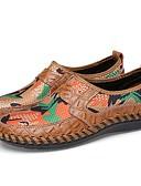 זול טישרטים לגופיות לגברים-בגדי ריקוד גברים מוקסין טול / עור אביב / קיץ נוחות נעליים ללא שרוכים נעלי ספורט מים חום / ירוק / כחול