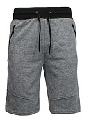 cheap Men's Ties & Bow Ties-Men's Cotton Loose Shorts Pants - Solid Colored Print