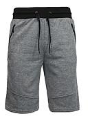 זול מכנסיים ושורטים לגברים-בגדי ריקוד גברים כותנה משוחרר שורטים מכנסיים דפוס, אחיד