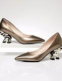 preiswerte Damen Socken & Strumpfwaren-Damen Nappaleder / Leder Frühling / Herbst Komfort High Heels Blockabsatz Gold / Schwarz / 3-4