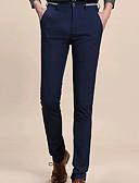 tanie Męskie spodnie i szorty-Męskie Bawełna Typu Chino Spodnie Solidne kolory