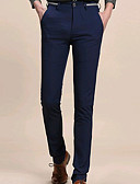 ieftine Pantaloni Bărbați si Pantaloni Scurți-Bărbați Bumbac Pantaloni Chinos Pantaloni - Mată Negru