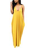 זול שמלות נשים-מקסי אחיד - שמלה טישרט בוהו בגדי ריקוד נשים