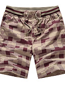 ieftine Pantaloni Bărbați si Pantaloni Scurți-Bărbați Sportiv Mărime Plus Size Bumbac Zvelt Pantaloni Scurți Pantaloni Chinos Pantaloni - Imprimeu, Carouri
