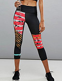 cheap Bras-Women's Sporty Legging - Print, Color Block High Waist