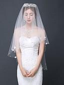זול טישרטים לגופיות לגברים-שכבה אחת עכשווי הינומות חתונה צעיפי מרפק עם אסוף תחרה / קלאסי