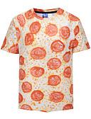 זול חולצות פולו לגברים-קולור בלוק צווארון עגול סגנון רחוב טישרט - בגדי ריקוד גברים