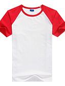 זול חולצות לגברים-קולור בלוק צווארון עגול טישרט - בגדי ריקוד גברים