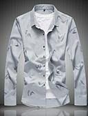 povoljno Muške košulje-Veći konfekcijski brojevi Majica Muškarci - Kinezerije Jednobojni Pamuk