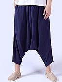 cheap Men's Shirts-Men's Linen Loose Pants - Solid Colored