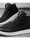 baratos Relógio Elegante-Homens Sapatos Confortáveis Lona Outono / Inverno Tênis Branco / Preto / Khaki