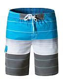 זול בגדי ים לגברים-L XL XXL פסים / קשת, בגדי ים חלק אחד (שלם) אודם אפור כחול בהיר בסיסי בוהו בגדי ריקוד גברים